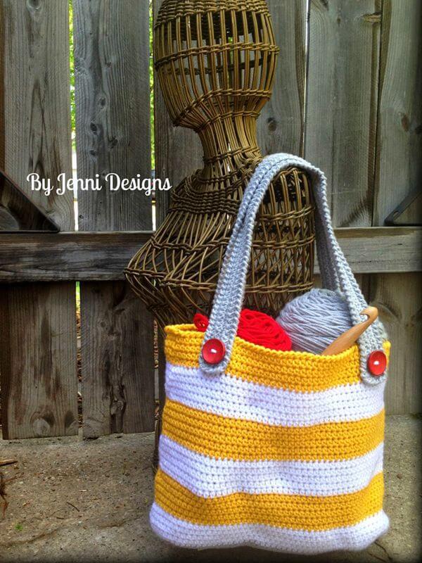 Small Striped Tote Bag