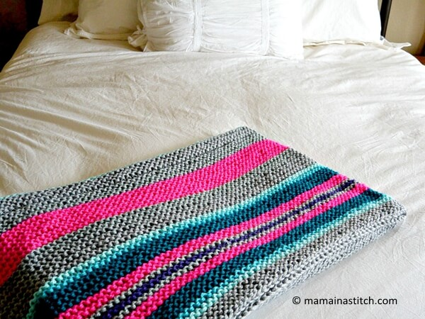 Easy Native Stripes Knit Blanket