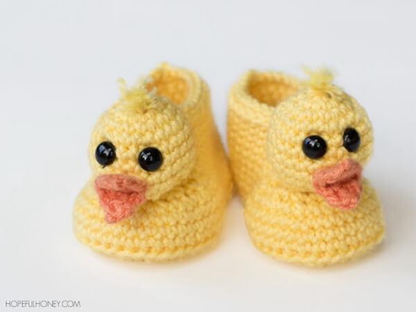 Duckling Baby Booties