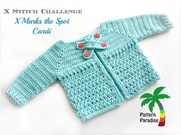 X Stitch Baby Cardigan Sweater