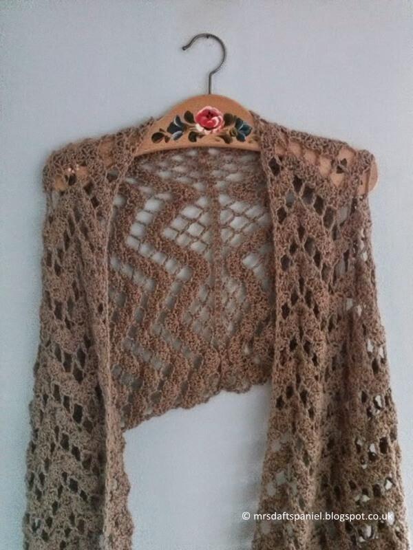 Crocheted Alpaca Wrap
