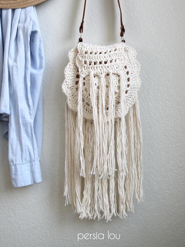 Boho Tassel Crochet Bag