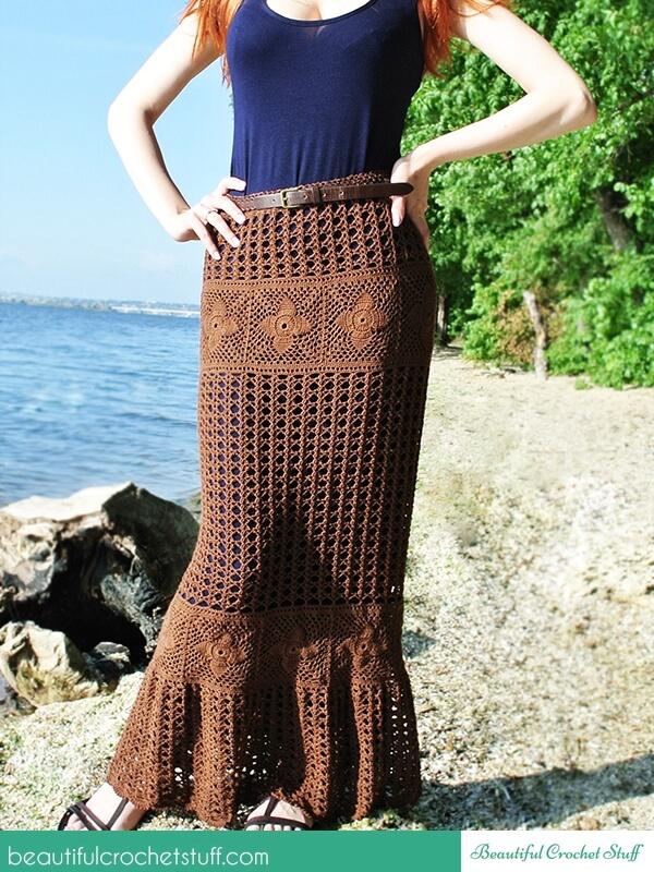 Crochet Maxi Skirt Free Pattern – Share a Pattern