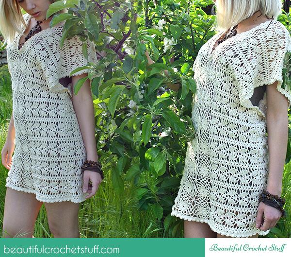 Crochet Leaf Tunic Free Pattern