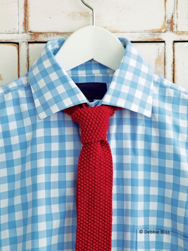 Moss Stitch Tie