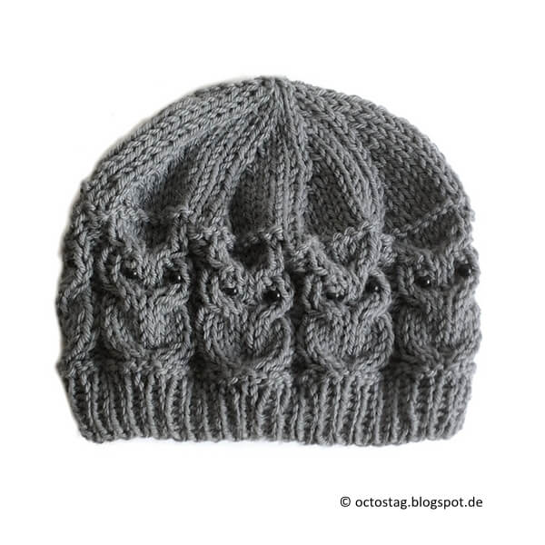 Knitting Pattern For Owl Beanie : Owl Beanie Share a Pattern