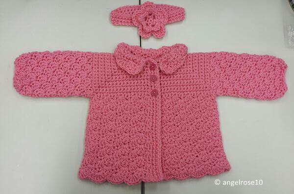 Pretty Shells Baby Sweater