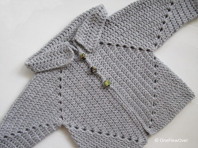 Sue's No holes Hexagon Baby Sweater