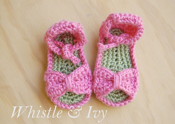 Bitty Bow Baby Sandals