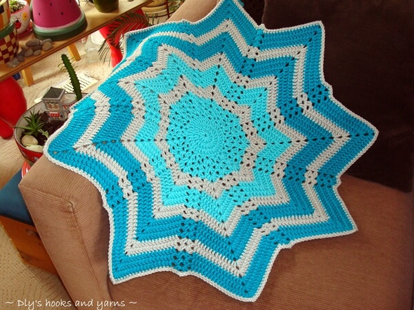 Rippling Shells Baby Blanket