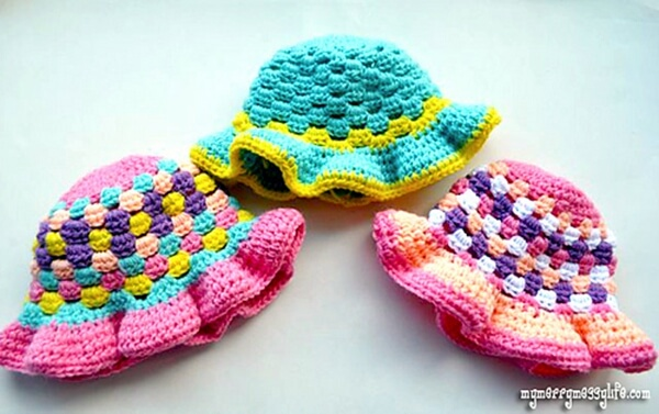Granny Stitch Sun Hat