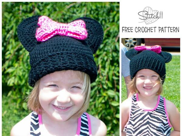 Mouse Hat With A Bow Share A Pattern