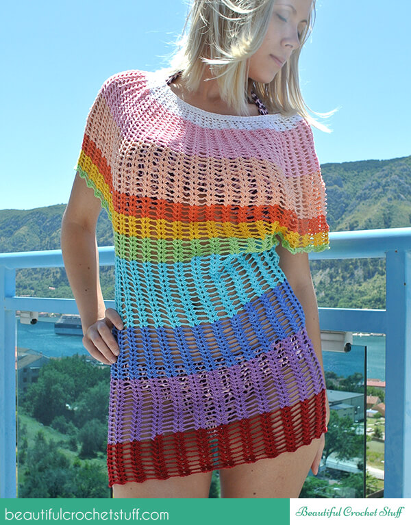 Angel Sleeve Crochet Tunic