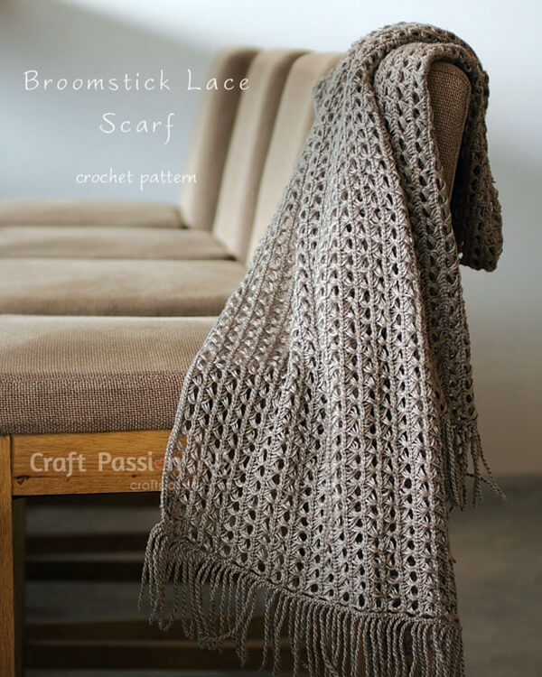 Broomstick Lace Knitting Pattern : Crochet Broomstick Lace Scarf   Share a Pattern