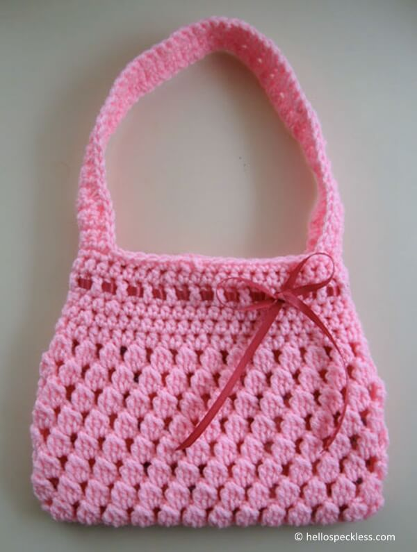 Free Crochet Patterns Small Purse : Bobble-licious Bag Share a Pattern