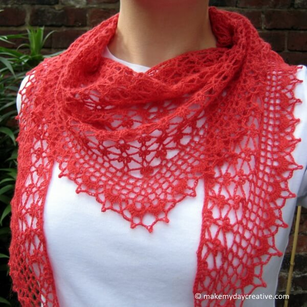Summer Sprigs Lace Scarf