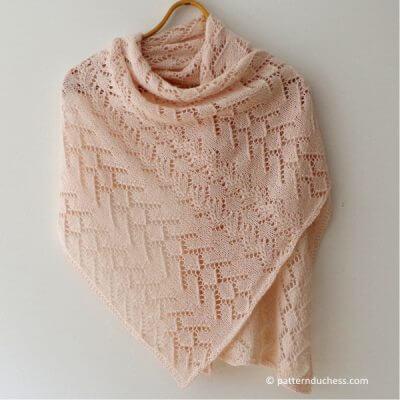 Lacy picnic shawl