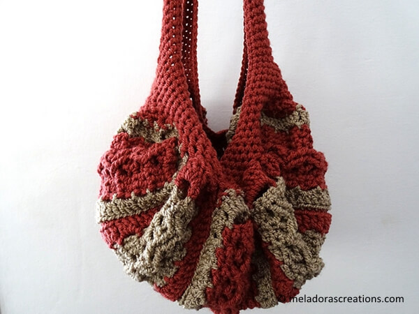 Celtic Weave Strip Hobo Bag