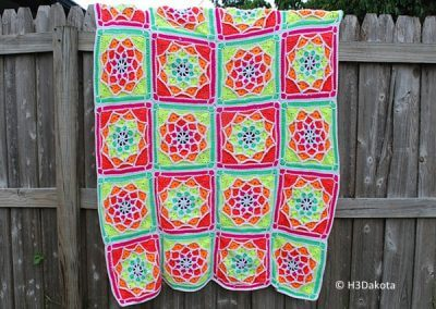 Sun Catcher Afghan Square