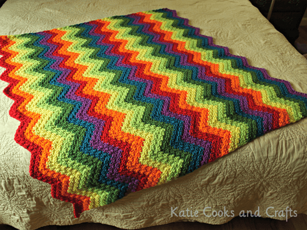Rumpled Ripple Rainbow Baby Afghan Share A Pattern