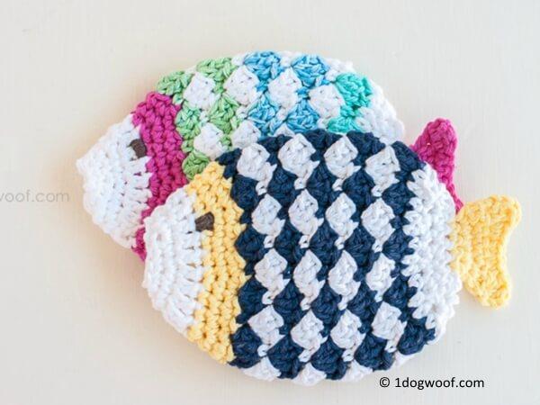 Fish Scrubbie Washcloths