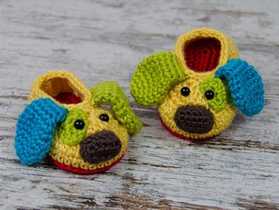 Scrappy the Happy Puppy Slippers