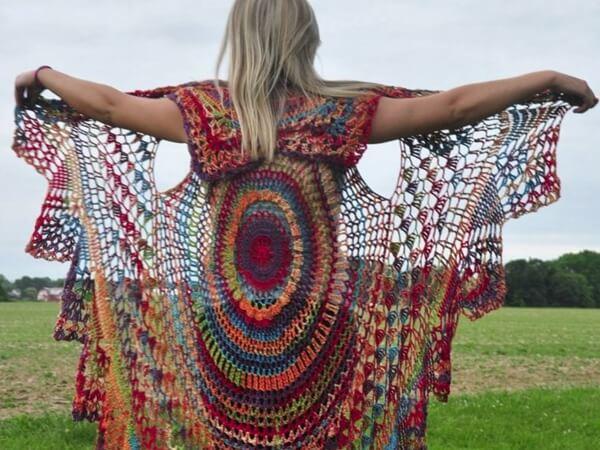 Bohemian Vest Crochet PATTERN Boho Style