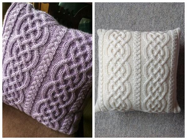 Celtic Knit Aran Pillow
