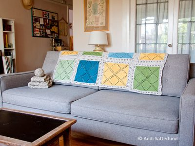 How to Knit a Blanket With Color Blocks