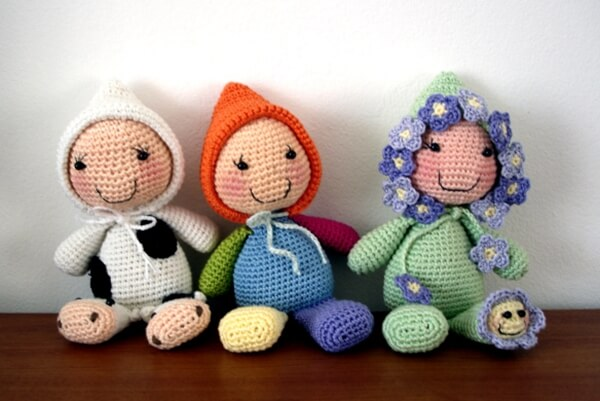Lavender stuffed dolls