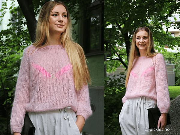 Fluffy pink cloud sweater