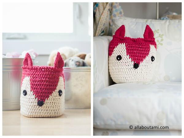 Fox Basket / Pillow