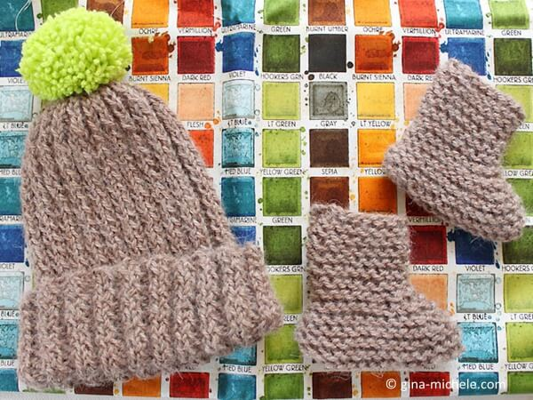 """Bringing Home Baby"" Gift Set- Hat & Booties"