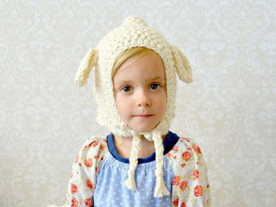Toddler Crochet Lamb Hat