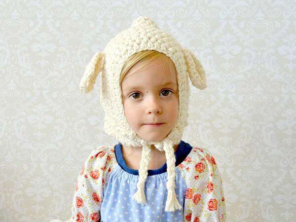Toddler Crochet Lamb Hat