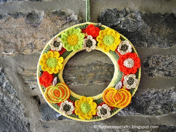 Autumn Crochet Wreath