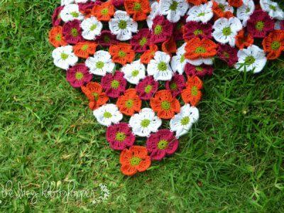 Tropical blooms baby blanket