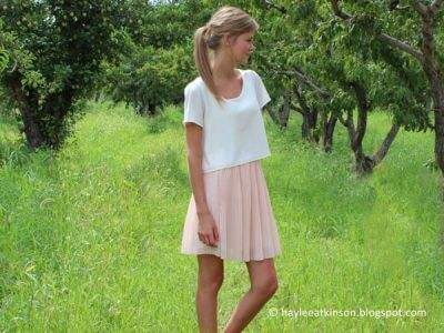 Pink Pleated Chiffon Skirt