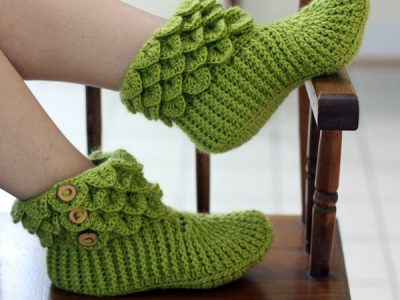 Crocodile Stitch Boots