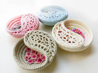 Freeform Crochet Jewelry Dish