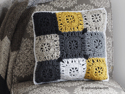 Square Button Pillow