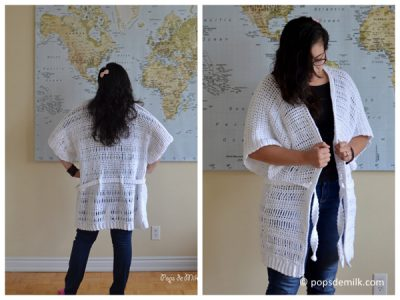 Comfy Crochet House Coat