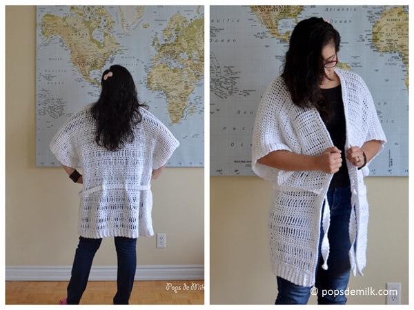 Comfy Crochet House Coat