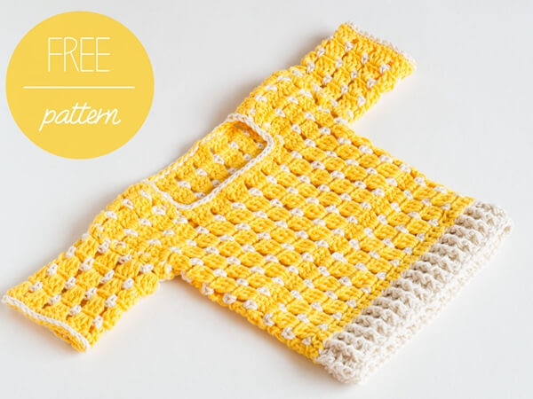 Crochet Baby Sweater – Summer Sun
