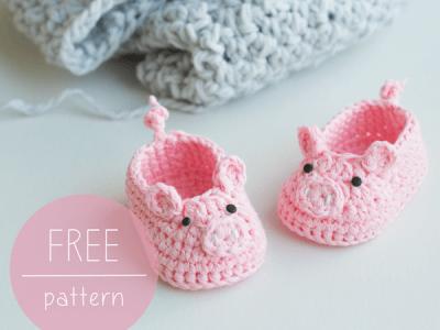 Piggy Baby Booties