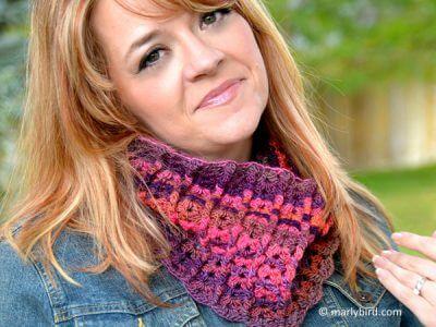 Sherbet Crochet Cowl