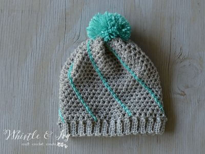 Diagonal Hatch Slouchy Hat