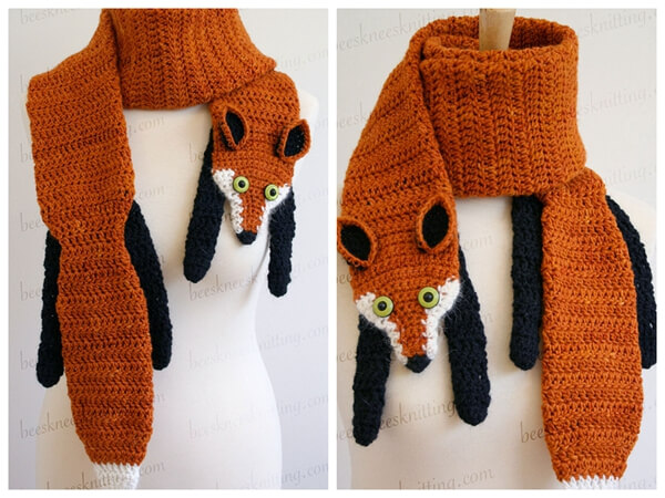 The Fox Scarf Crochet Pattern Share A Pattern