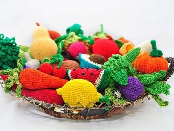 35 Crochet Play Food Patterns