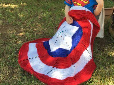American Hero Crochet Pattern Small Blanket